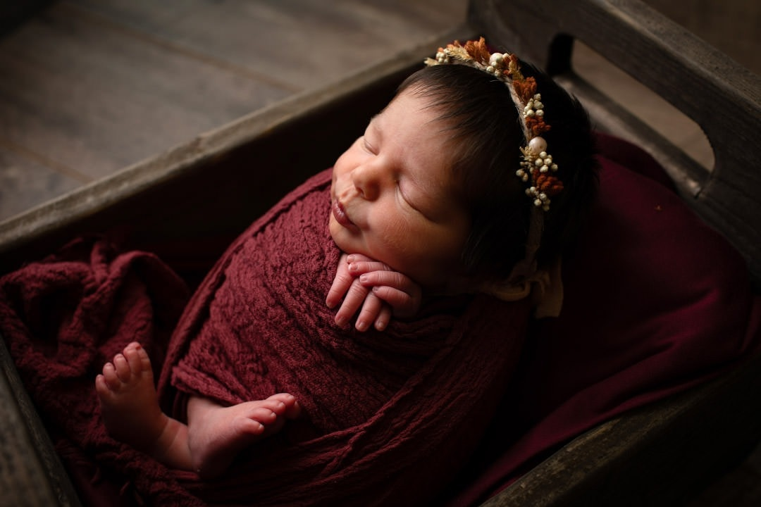 newborn-girl-wrapped-headband
