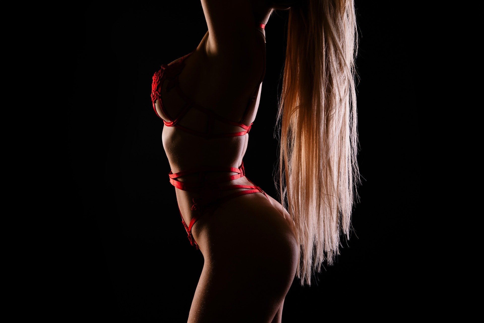 backlit long hair boudoir photo