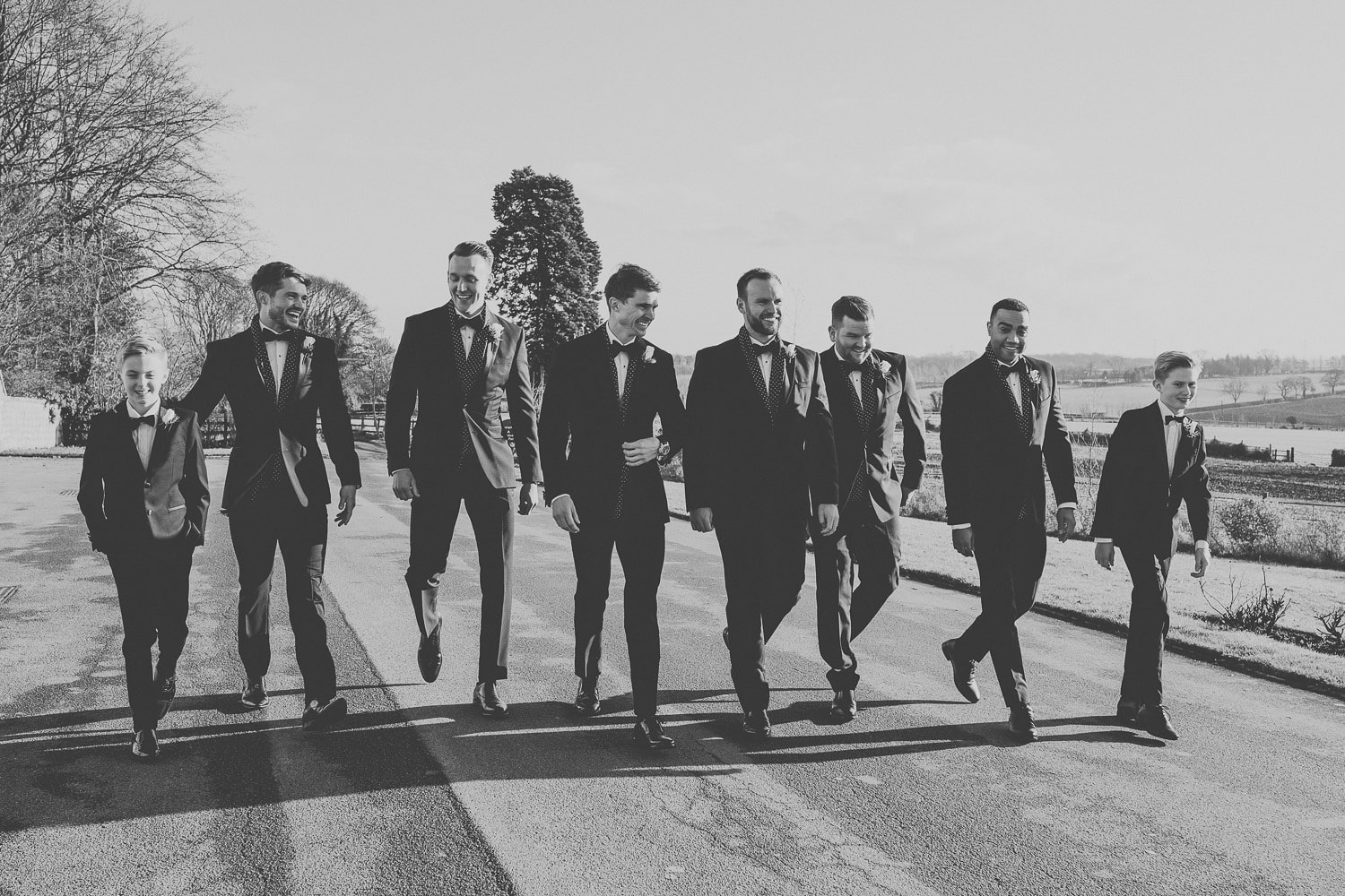 york-wedding-groomsmen-walking